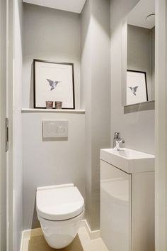 wc ideas downstairs loo with window . wc ideas down Small Toilet Design, Small Toilet Room, Guest Toilet, Small Toilet Decor, Toilet Decoration, Bathroom Trends, Bathroom Interior, Bathroom Ideas, Bathroom Designs