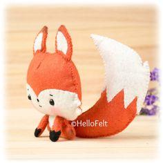 PDF Pattern Woodland Series: Fox Felt Animal Pattern por HelloFelt