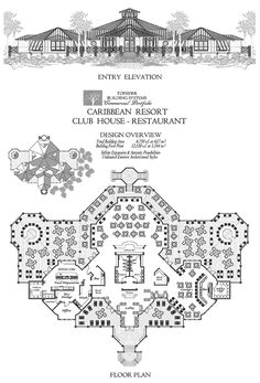 Commercial Collection - Caribbean Resort Club House & Restaurant w/ Lounge, Bar,. : Commercial Collection – Caribbean Resort Club House & Restaurant w/ Lounge, Bar, Lobby & Office Commercial Design Concept Restaurant Floor Plan, Restaurant Layout, Hotel Floor Plan, Office Floor Plan, House Restaurant, House Floor Plans, Restaurant Design, Custom Home Plans, Custom Home Designs