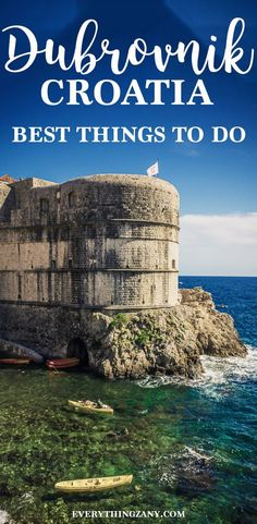 Points of Interest: Fun Things To Do In Dubrovnik (King's Landing) There are various things to do in Dubrovnik for everyone to enjoy. Dubrovnik is a charming and historical city in along the Dalmatian coast. Backpacking Europe, Europe Travel Guide, Travel Guides, Travel Destinations, Travelling Europe, Traveling, Travel List, Travel Hacks, Holiday Destinations