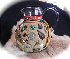 Memory Jug - Native American - Folk Art. $225.00, via Etsy.