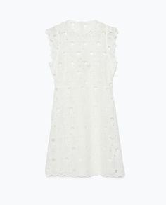 GUIPURE STARS DRESS - Pretty White - WOMAN | ZARA United States