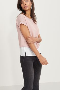 Layered Dropped Sleeve Tee