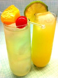 Fun springtime mocktails recipes from This Girl Walks Into A Bar...rum or vodka optional.