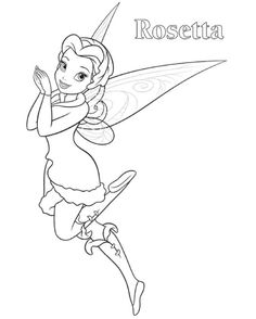 rosetta tinkerbell coloring page