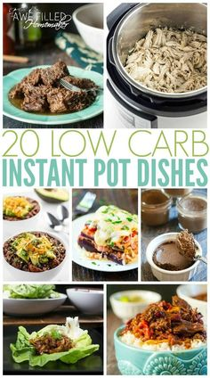 Eating healthy is never easy. Especially if you don't plan. I am making that easier with 20 healthy, low carb instant pot recipes!