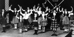 Old photograph of a Highland Night in Pitlochry, Perthshire, Scotland