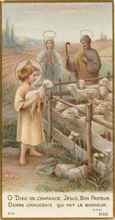 Jesus, The Good Shepherd Lord Is My Shepherd, The Good Shepherd, Religious Pictures, Jesus Pictures, Catholic Art, Religious Art, Roman Catholic, Vintage Holy Cards, Christian Artwork