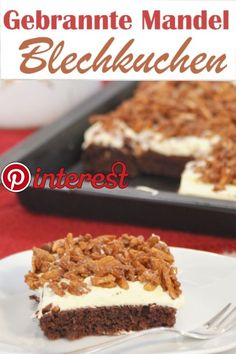 From the Gebrannte-Mandel-Kuchen. roasted almond cake from the sheet, vegan possible, the cracker on the Christmas cake buffet - Easy Smoothie Recipes, Easy Cake Recipes, Cupcake Recipes, Cookie Recipes, Food Cakes, Thermomix Desserts, Roasted Almonds, Happy Foods, Pumpkin Spice Cupcakes