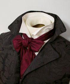 Cravat Tie, Ascot Ties, Layers Design, Single Piece, Dandy, Victorian Fashion, Regency, Making Ideas, Silk