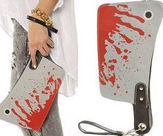 Cleaver Clutch Bag...for the serial killer who has everything! lol