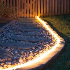 new Ideas for backyard patio diy cheap tutorials Garden Lighting Diy, Backyard Lighting, Landscape Lighting, Outdoor Lighting, Rope Lighting, Lighting Ideas, Strip Lighting, Patio Diy, Backyard Patio