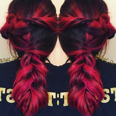 Red hair by Amanda Rodriguez Pravana Color follow me @ IG:Jaid_Co https://www.facebook.com/JaidCoHairStudio/