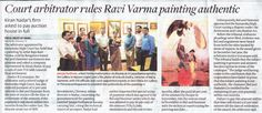 Court Arbitrator rules Ravi Varma painting authentic (Kiran Nadar's firm asked to pay auction house in full): Feb The Hindu BusinessLine, Mumbai & New Delhi Mumbai News, 18th, Auction, House, Painting, Home, Painting Art, Haus, Paintings