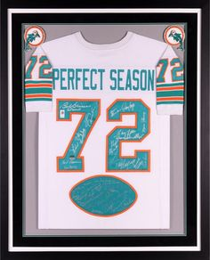 6e4a97d97 1972 Team Signed Miami Dolphins Framed Signed 40th Anniversary Jersey -  Fanatics  sportsmemorabilia  autograph  football