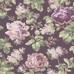 "York Wallcoverings Riverside Park Rose 33' x 20.5"" Floral and Botanical Wallpaper & Reviews | Wayfair"