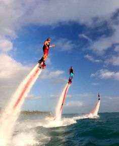 flyboard. dude, i freaking want one of these!!! too bad they're like $7,000!