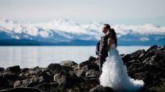 Nathan and Lilian's cruise ship destination wedding in Alaska, U.S. Photo taken near the Shrine of St. Therese   https://mjand.co/alaska-wedding-photographers-nathan-lilian/  http://www.shrineofsainttherese.org/visit-the-shrine