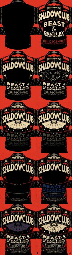 The Assembly Presents: Shadowclub by Ian Jepson, via Behance