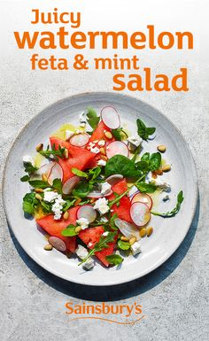 Juicy watermelon, crumbly feta and fresh mint - salads don't get more summery than this!