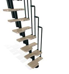 Dolle graz 23 in grey modular 12 tread stair kit 68540 for Loft kits home depot