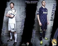 Xabi Alonso and Karim Benzema Real Madrid New Kit 2012-2013 HD Best Wallpapers