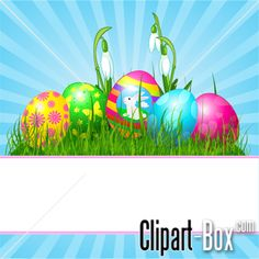 CLIPART EASTER EGGS BACKGROUND