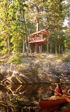 3 | These Amazing Hanging Hotel Rooms Let Guests Camp In Trees | Co.Exist | ideas + impact,  Toronto