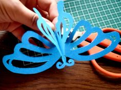 How to Make a Kirigami Butterfly (tutorial), Birds, Butterflies & Garden Crafts Butterfly Party, Butterfly Crafts, Paper Art, Paper Crafts, Cute Box, Paper Butterflies, Art N Craft, Mother's Day Diy, Diy Party Decorations
