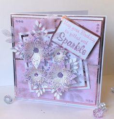 Luxury boxed handmade floral Birthday card in pink and Flower Cards, Paper Flowers, Chloes Creative Cards, Stamps By Chloe, Poinsettia Cards, Sue Wilson, Card Making Tutorials, Art Cards, Card Designs