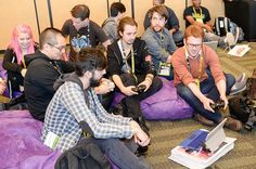 Just a little gaming going on at #GDC15 at the Indie MEGABOOTH Showcase