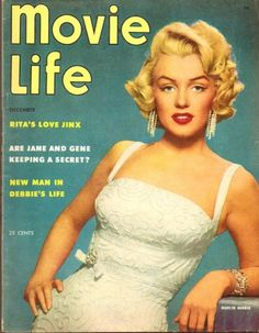 classic Hollywood movie magazine cover | Marilyn Monroe Magazine Cover – Movie Life – December 1953