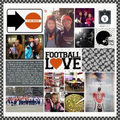 #ProjectLife #football #scrapbook week from Jen at DesignerDigitals.com Scrapbooking Layouts, Scrapbook Pages, Digital Scrapbooking, Chalkboard Tags, Project Life Layouts, Notebook Paper, Creative Memories, Photo Book, Paper Crafts