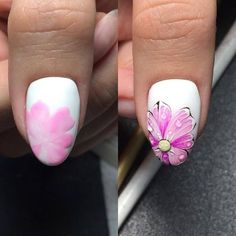 We all want beautiful but trendy nails, right? Here's a look at some beautiful nude nail art. Diy Nails, Cute Nails, Pretty Nails, Crazy Nail Art, Crazy Nails, Spring Nails, Summer Nails, Nail Art Fleur, Nail Art Techniques