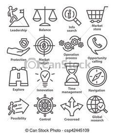 Vector - Business management icons in line style. Pack 13. - stock illustration, royalty free illustrations, stock clip art icon, stock clipart icons, logo, line art, EPS picture, pictures, graphic, graphics, drawing, drawings, vector image, artwork, EPS vector art