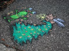 david zinn sidewalk art christmas   observed by Mary Morgan on November 8, 2011 at 6 pm