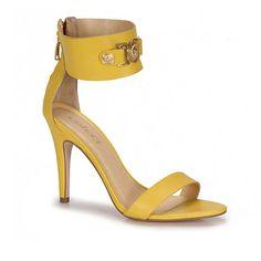 Sandália Salto Colcci 8010101386  - Amarelo