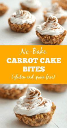 No-Bake Carrot Cake Bites (gluten free)  - www.savorylotus.com
