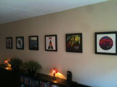Daan in the Netherlands shows off his eclectic vinyl collection with 6 black frames