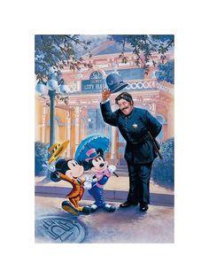 Policeman Greeting Mickey Minnie