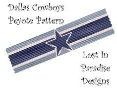 Peyote Bracelet Pattern - Dallas Cowboys - Peyote Stitch Pattern (Buy 2 get one Free). $6.50, via Etsy.