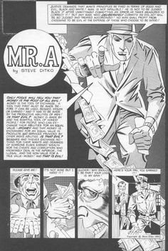 A, by Steve Ditko Unpublished Comic Book Artists, Comic Artist, Comic Books Art, Black And White Comics, Steve Ditko, Frank Frazetta, American Comics, Hero Arts, Marvel Comics