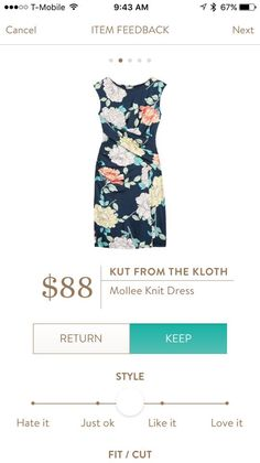 Kut from the Kloth Mollee Knit Dress Stitch Fix-I have this. LOVE it!!! Want more! Diff colors and patterns!