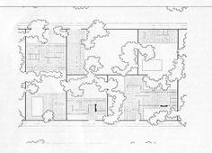 Mies van der Rohe | Estudio sobre la casa patio (Patio Houses) | 1931