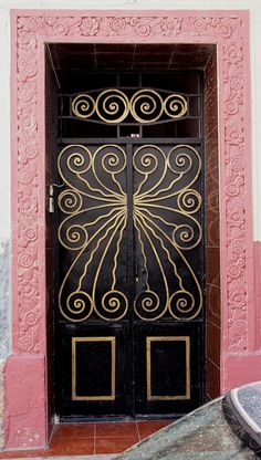 Wrought Iron Door, Casablanca by colros, via Flickr