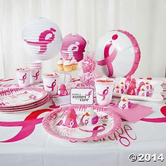 Host a breast cancer awareness party with party supplies from our friends at Oriental Trading Company #the3day