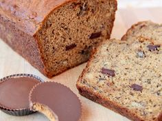 Peanut Butter Cup Banana Bread... probably will stick to my bread recipe but pnut butter cups sound like a great idea