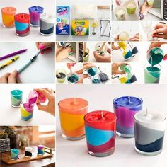 Will You Try these DIY Candles Made with Crayons and Wax? - http://www.amazinginteriordesign.com/will-you-try-these-diy-candles-made-with-crayons-and-wax/