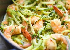 Low carb, low in calories, perfect: we love Zoodles recipes! - Zucchini noodles (zoodles) are the perfect low carb dinner! Zucchini noodles (zoodles) are the perf - Zucchini Noodle Recipes, Zoodle Recipes, Healthy Zucchini, Seafood Recipes, Recipe Zucchini, Tapas Recipes, Recipies, Recipes Dinner, Prawn Recipes