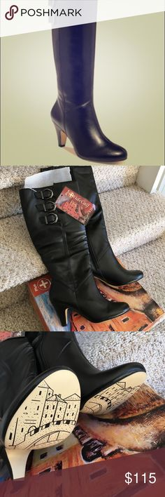 a6c1e7543262a 🎄NWT calf black boots-size 6.5 These high quality man-made boots are